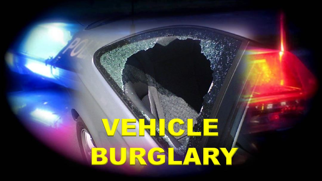 news vehicle burglary